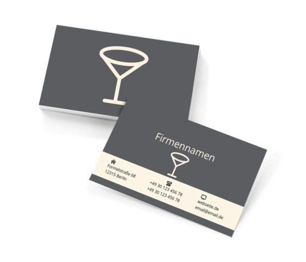 Martini-Glas, Gastronomie, Bar - Visitenkarten Netprint Online Vorlagen