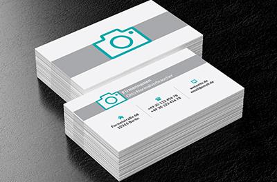 Glas Der Kamera Foto Dienstleistungen Visitenkarten