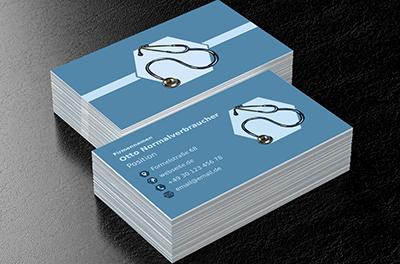 Stethoskop In Einem Sechseck Arzt Visitenkarten Netprints