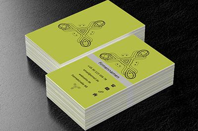 Klassisches Muster Klassiche Visitenkarten Netprints