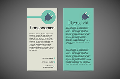 Permanente, variable und alternierende Werbung, Bauwesen, Elektriker - Flyer Netprint