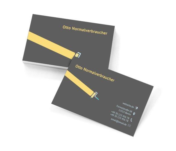 Gelbe Leiste, Bauwesen, Dienstleistungen im Bereich Maler - Visitenkarten Netprint Online Vorlagen