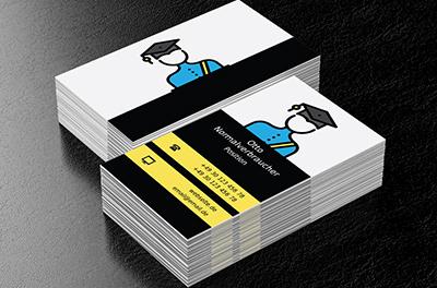 Student In Uniform Privatschule Visitenkarten Netprints