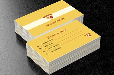 Leckere Pizza Pizzeria Visitenkarten Netprints
