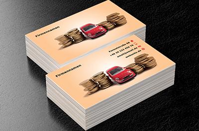 Münzen Und Auto Fahrzeugmarkt Visitenkarten Netprints