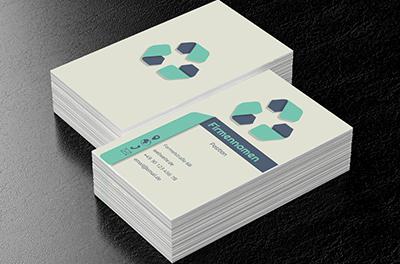 öko Abzeichen Umweltschutz Visitenkarten Netprints