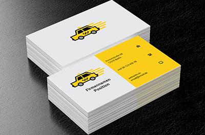 Gelbes Taxi Taxi Visitenkarten Netprints