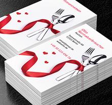 Catering Gastronomie Projekte Visitenkarten Netprints