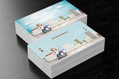 Bunte Kinder Kindergarten Visitenkarten Netprints