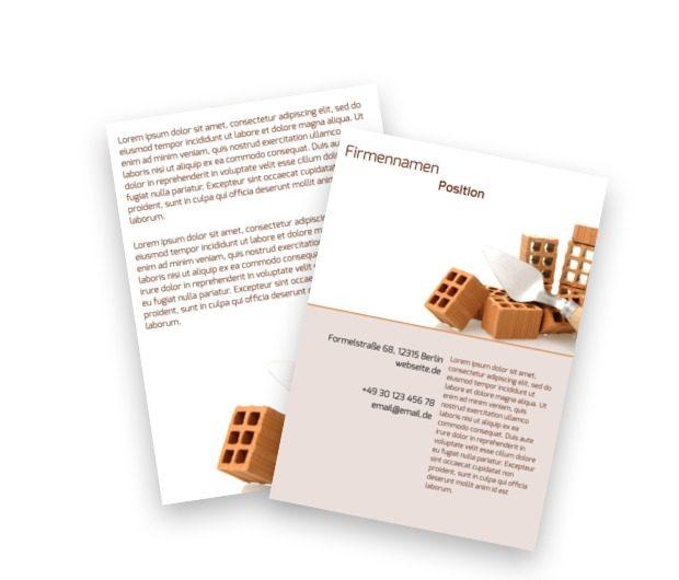 Bordstein-Broschüre, Bauwesen, Baumarkt - Flyer Netprint Online Vorlagen