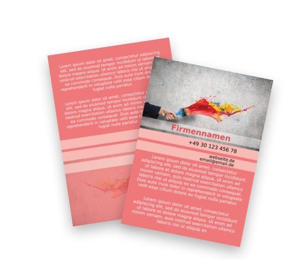 Ich werde deine Welt malen, Bauwesen, Dienstleistungen im Bereich Maler - Flyer Netprint Online Vorlagen