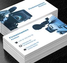 Video Aufnahme Fotografie Projekte Visitenkarten Netprints