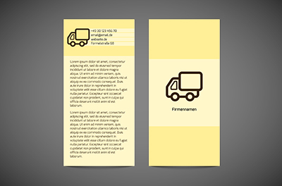 In attraktiven Lieferungen, Transport, Transport von Waren - Flyer Netprint