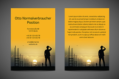 Weg zum Business-Podium, Bauwesen, Architektur - Flyer Netprint