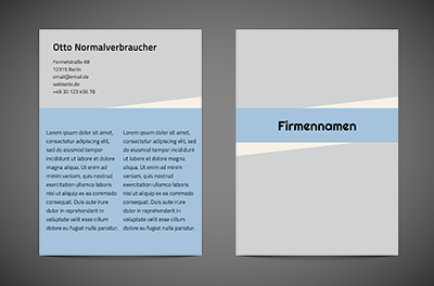 In einer Blue-Eye-Firma, Motive, universelle - Flyer Netprint