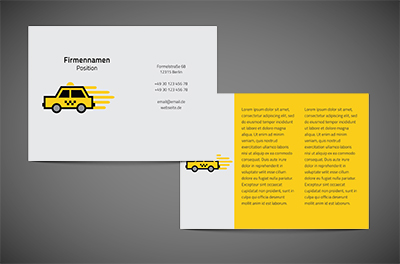 Taxi bei einem Nicken, Transport, Taxi - Flyer Netprint