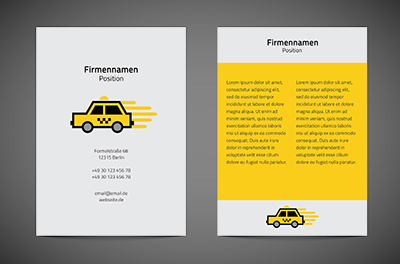 Träume einholen. Logistische Galle., Transport, Taxi - Flyer Netprint