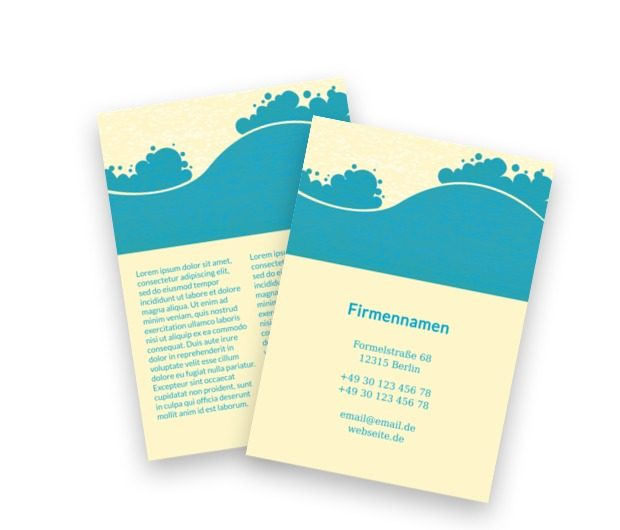 Seaside Business-Symbol, Tourismus, Hotel,  Motel, Gästehaus - Flyer Netprint Online Vorlagen
