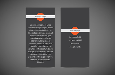 Orange Träume, Motive, universelle - Flyer Netprint