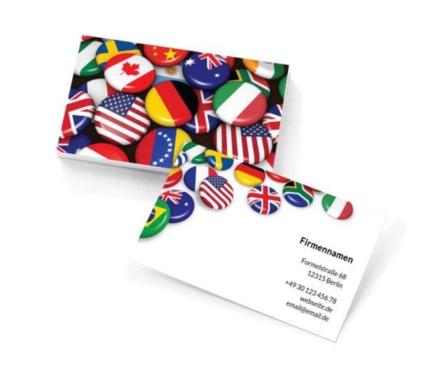 Kenne die Sprachen, Bildung, Lernen von Fremdsprachen - Visitenkarten Netprint Online Vorlagen