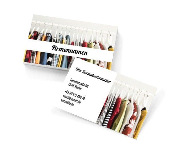 Farben unter dem Modeschild, Gesundheit und Schönheit, Stilist - Visitenkarten Netprint Online Vorlagen