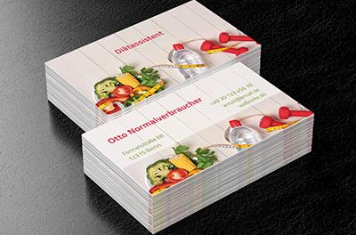Gezeichnetes Obst Und Gemüse Diätassistent Visitenkarten