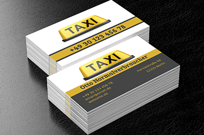 Taxi Im Voraus Taxi Visitenkarten Netprints