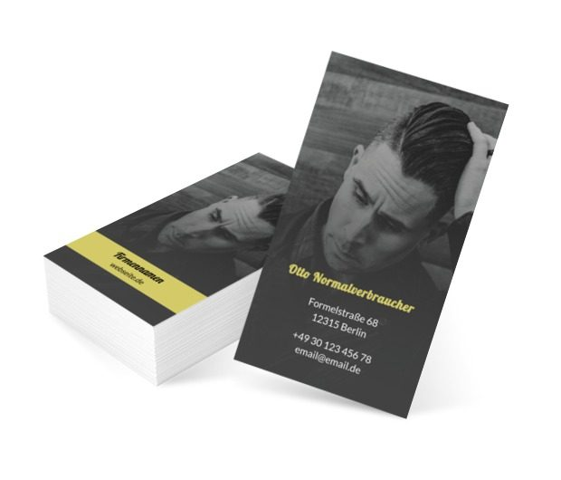 Schönheit in der Herrenversion, Gesundheit und Schönheit, Friseursalon - Visitenkarten Netprint Online Vorlagen
