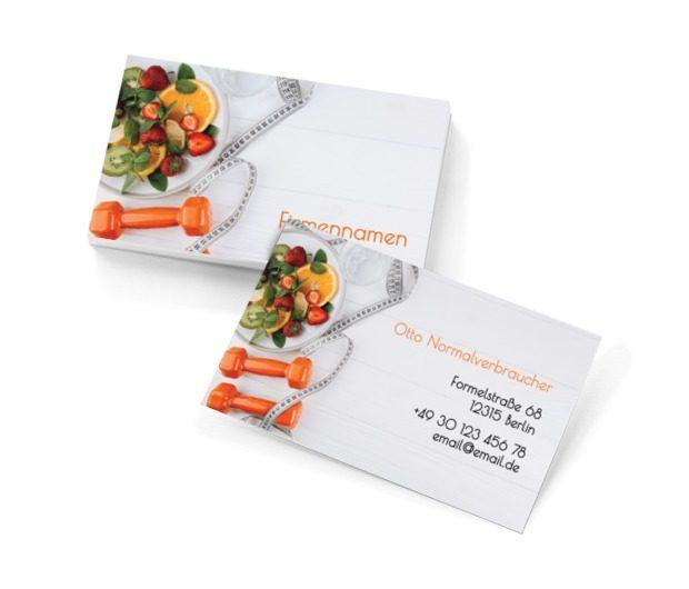 Ein gesunder Geist in einem gesunden Körper, Gesundheit und Schönheit, Diätassistent - Visitenkarten Netprint Online Vorlagen