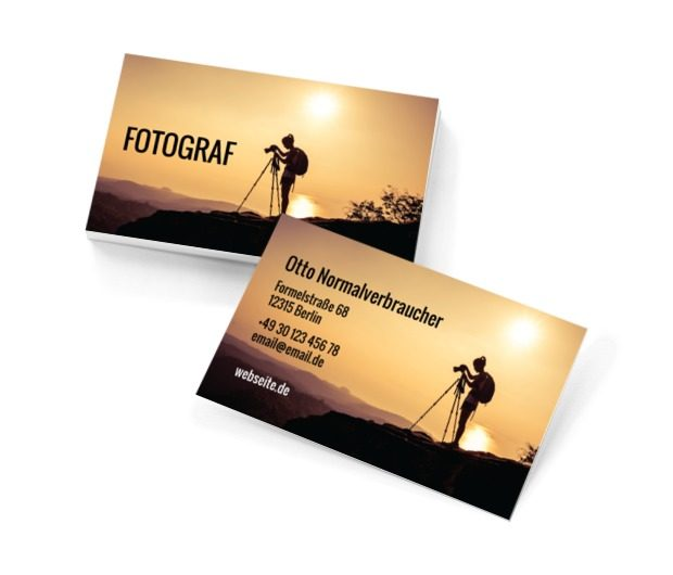 An den Bildausschnitten verewigte Momente, Fotografie, Foto- Dienstleistungen - Visitenkarten Netprint Online Vorlagen