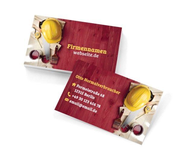 Ist etwas zum Anstreichen?, Bauwesen, Renovierung und Innenausstattung - Visitenkarten Netprint Online Vorlagen