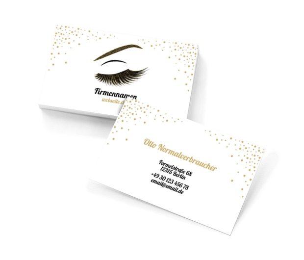 Schönheitsreich, Gesundheit und Schönheit, Make- up - Visitenkarten Netprint Online Vorlagen