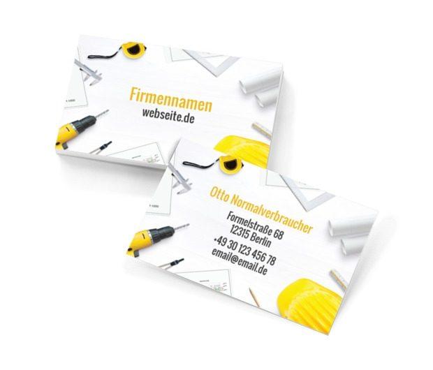 Wir bauen ein neues Haus, Bauwesen, Renovierung und Innenausstattung - Visitenkarten Netprint Online Vorlagen