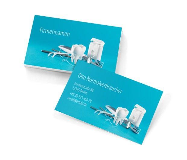Lächeln wie aus der Werbung, Medizin, Stomatologie - Visitenkarten Netprint Online Vorlagen