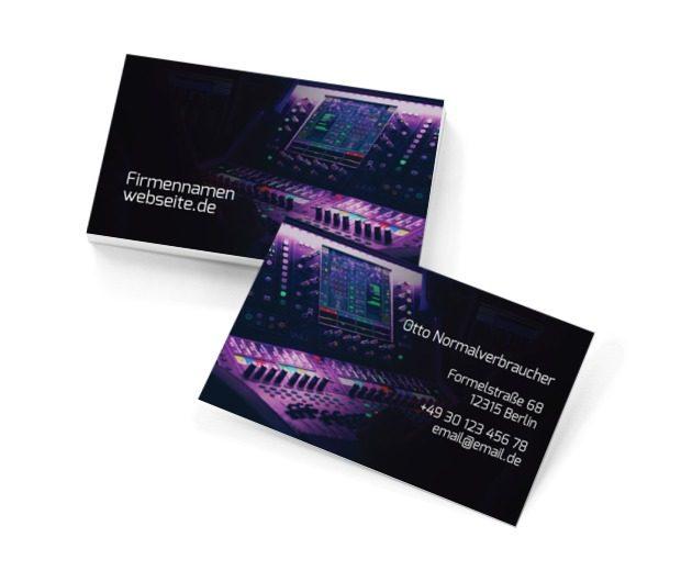 Welchen Song spielen wir heute Abend auf?, Unterhaltung, DJ - Visitenkarten Netprint Online Vorlagen