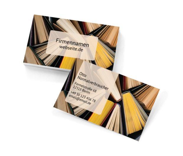 In ein Buch vertieft sein, Bildung, Buchhandlung - Visitenkarten Netprint Online Vorlagen
