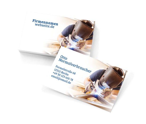 Schweißdienstleistungen auf höchstem Niveau!, Dienstleistungen für Haus, Servicemitarbeiter - Visitenkarten Netprint Online Vorlagen