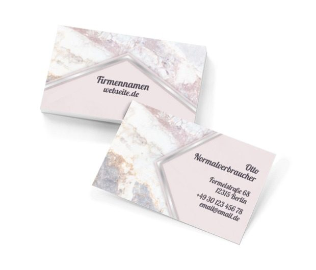 Marmor-Klassiker, Motive, Glamour - Visitenkarten Netprint Online Vorlagen