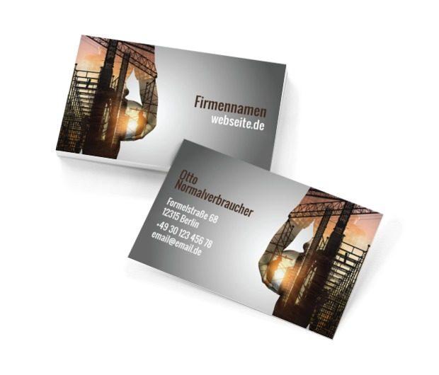 Moderne Konstruktion, Bauwesen, Architektur - Visitenkarten Netprint Online Vorlagen