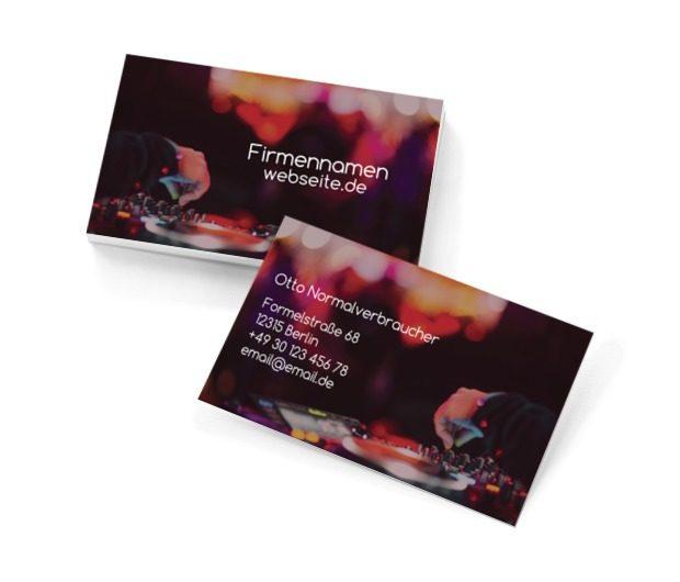 Eine Party zu beginnen ist Ihre Spezialität, Unterhaltung, DJ - Visitenkarten Netprint Online Vorlagen