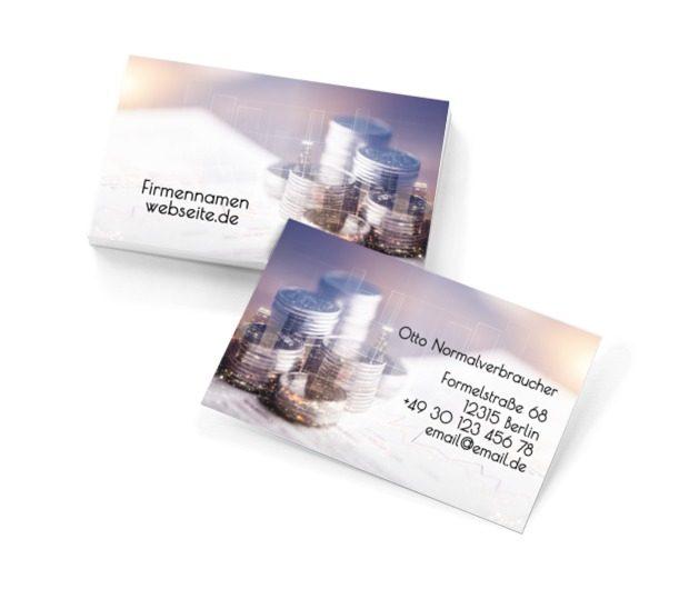 Die Gewinngarantie ist Ihr Motto, Finanzen und Versicherungen, Rechnungsbüro - Visitenkarten Netprint Online Vorlagen