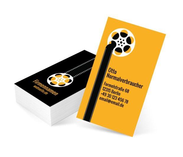 Filmstreifen, Fotografie, Video- Aufnahme - Visitenkarten Netprint Online Vorlagen