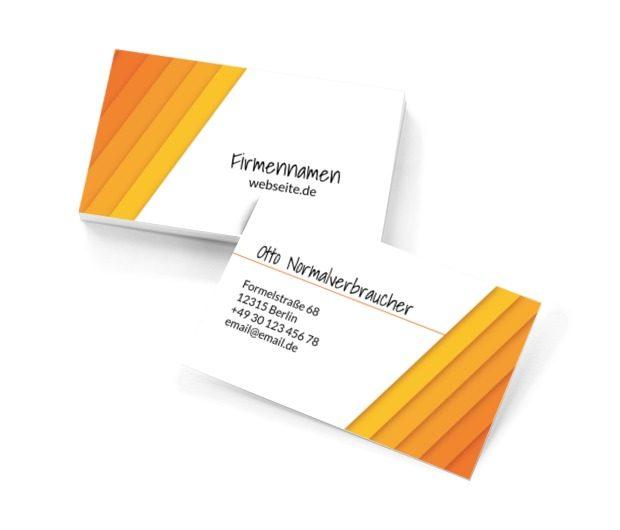 Orangefarbene Ästhetik, Motive, Klassiche - Visitenkarten Netprint Online Vorlagen