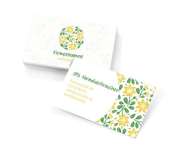 Blumenvorschau - naturnahe Dienstleistungen, Umwelt und Natur, Blumenladen - Visitenkarten Netprint Online Vorlagen