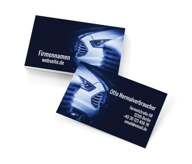 Assistenz für Autofahrer, Motorisierung, Mechaniker - Visitenkarten Netprint Online Vorlagen
