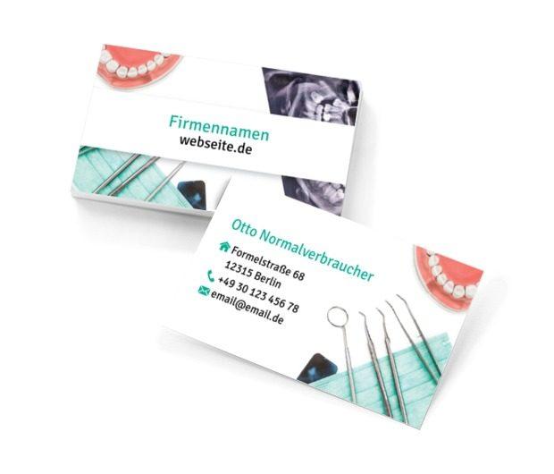 Vertrauen in den Zahnarzt ist eine sehr wichtige Sache, Medizin, Stomatologie - Visitenkarten Netprint Online Vorlagen