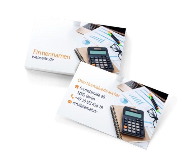Wir wissen alles über Finanzen!, Dienstleistungen im Büro, Buchhaltung - Visitenkarten Netprint Online Vorlagen