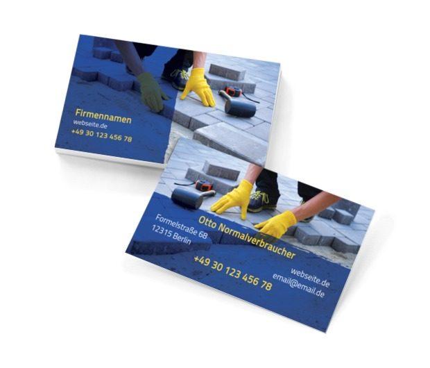 Eine solide Grundlage für harte Arbeit, Bauwesen, Dienstleistungen im Bereich Steinmetzhandwerk - Visitenkarten Netprint Online Vorlagen
