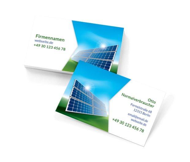 Alternative Energiequellen, Umwelt und Natur, Umweltschutz - Visitenkarten Netprint Online Vorlagen