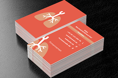 Zwei Farbiges Herz Arzt Visitenkarten Netprints